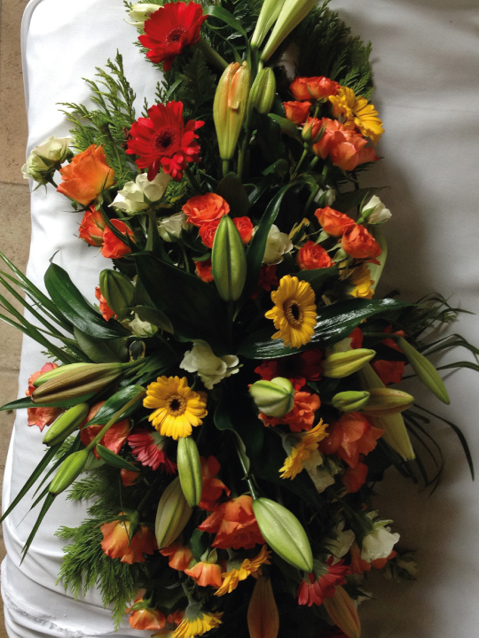 Brides and Blooms Funeral Flowers delivered in Galway